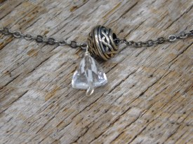 Sterling Silver Bead and crystal Bracelet