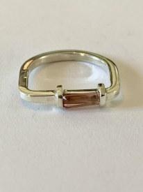 Pink Tourmaline Sterling Silver Ring Sz 7