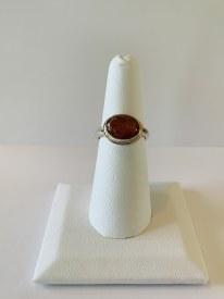 Sunstone Sterling Ring Sz 7.5