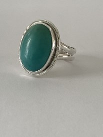 Turquoise Sterling Silver Ring Sz 7