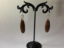 Brown Leaf Jasper Earrings