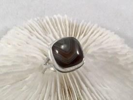 Batwan Agate Sterling Silver Ring Sz 6.5