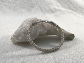 """Sterling Silver Viking Knitted Bracelet 7.5"""""""