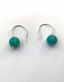 Chrysocolla Sterling Silver Earrings