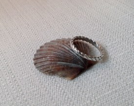 Dome Sterling Silver Ring Sz 5