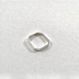 8 Side Sterling Silver Ring Sz 3
