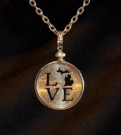 Necklace Quarter MI Love
