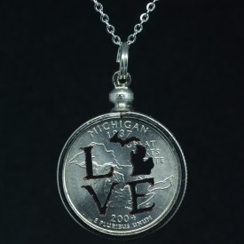Necklace Quarter MI Love