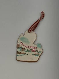 Ceramic Rochester Michigan Ornament With colors