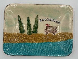"""Large Rochester Ceramic Tray 8"""" X 6"""""""