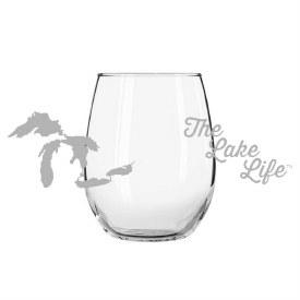 "Glass Wine ""The Lake Life"""