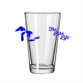 "Glass Pint ""The Lake Life"""