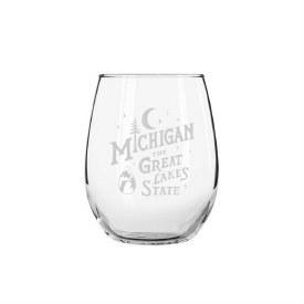 "Glass Wine ""MI the Great Lake State"""