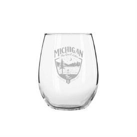"""Glass Wine """"MI"""" Shield"""