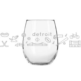 "Glass Wine""Detroit"" Icons"