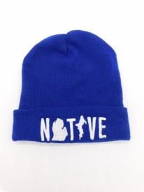 Knitt Flip Hat Native Michigan Blue