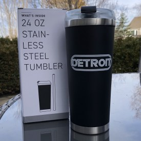 Detroit Oval Wrap Stainless Steel Tumbler 24 oz.