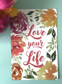 Love Life Floral Magnet