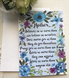 A Mother Believes Card