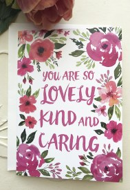 "Help Heroes Card ""You are so Lovely Kind and Caring"""