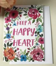 Keep A Happy Heart Card