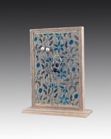 Earring Holder Base Gray Jacobean Design