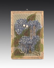 Earring Holder Classic Hanging - Hydrangea Design