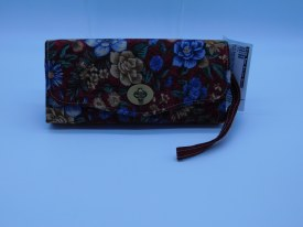 Wallet Beige Blue Floral Onred