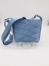 Seat Belt Purse - Crossbody Steel Blue