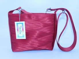 Seat Belt Purse - Crossbody Red