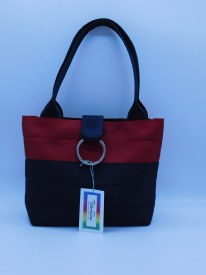 Seat Belt Tote Sm Red/black