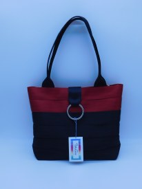 Seat Belt Purse - Red/Black Medium