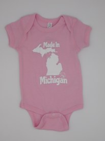 Made in MI Onesie 6mo Pink