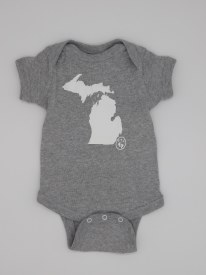 Onesie Michigan Mit 12 mo Grey
