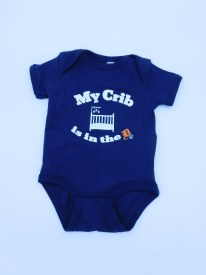 My Crib D Onesie NB Navy
