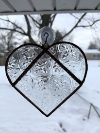 Staind Glass Heart Suncatcher