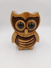 Hickory Walnut Wood Jewelry Box