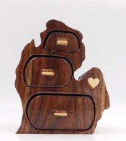 Michigan Treasure Box Walnut