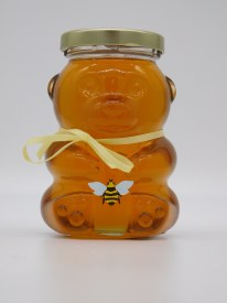Honey Glass Bear Jar 13 oz