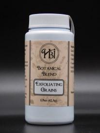 Face exfoliating grains