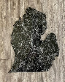 Marbled Black Mitten Cutout