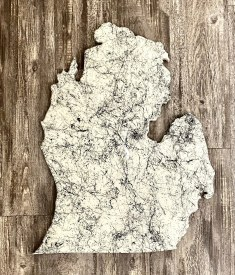 Marbled White Mitten Cutout
