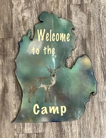 """""""Welcome th the Camp"""" Mitten Cutout"""