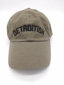 "Baseball Cap ""Detroitish"" Olive"
