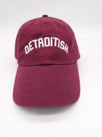 "Baseball Cap ""Detroitish"" Maroon"