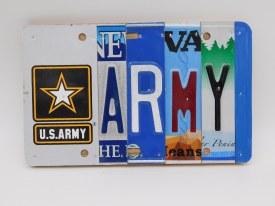 """Word Sign, """"Army"""" w/Emblem"""