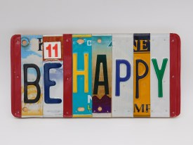 "Word Sign, ""Be Happy"""