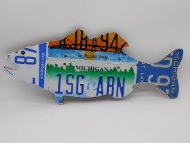 "License Plate Fish Large 24"" x 10.5"""