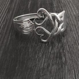 Fork Bracelet Weaving Hearts