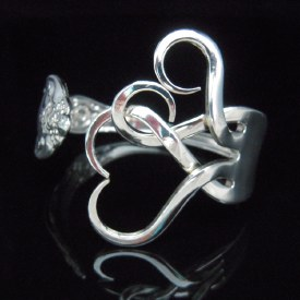 Fork Bracelet Intertwining Hearts